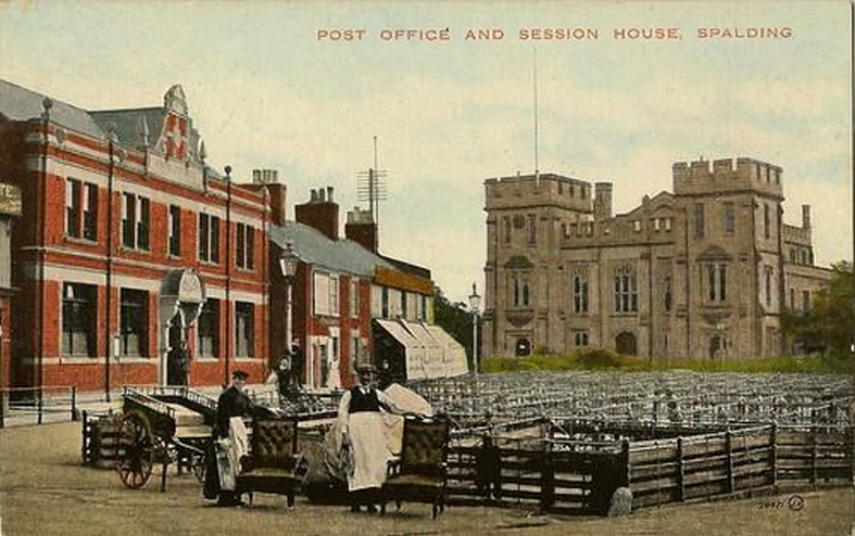 Post Office & Session House, Spalding Postcard