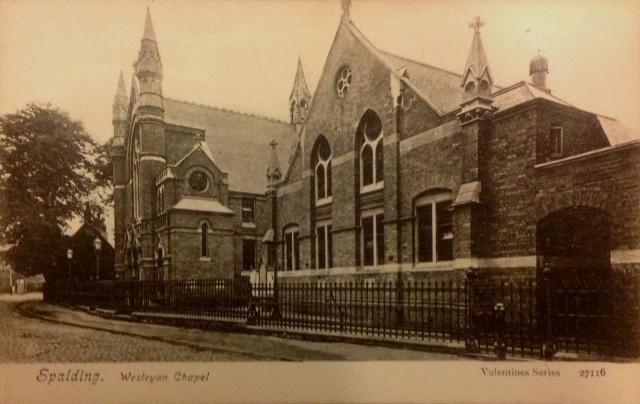Wesleyan Chapel, Spalding  Postcard