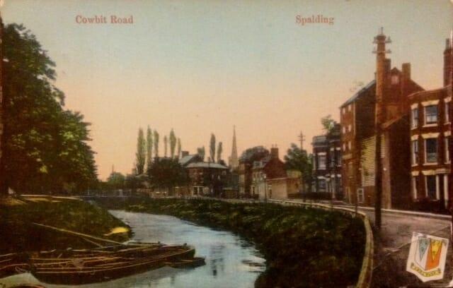 Cowbit Road, Spalding  Postcard