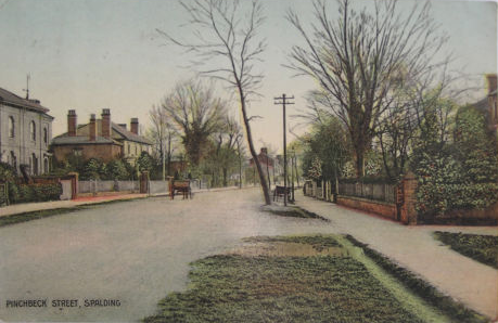 Postcard of Pinchbeck Road, Spalding 1910