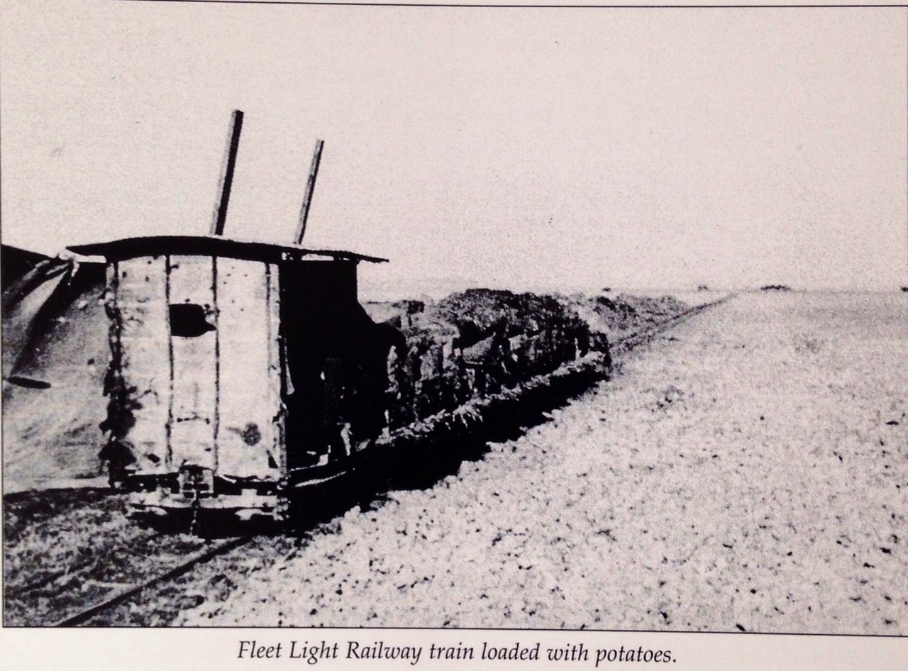 Fleet Light Railway train loaded with Potatoes