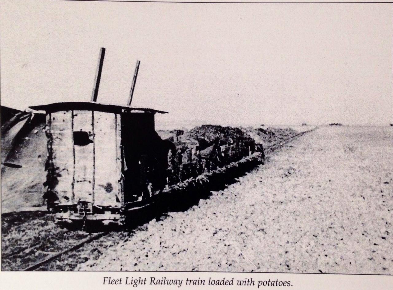 Fleet Light Railway train loaded with Potatoes