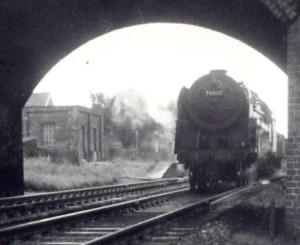 AOS P 1580  Donington train heading north 1962