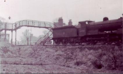 Steam Engine and Tender, Spalding 1958