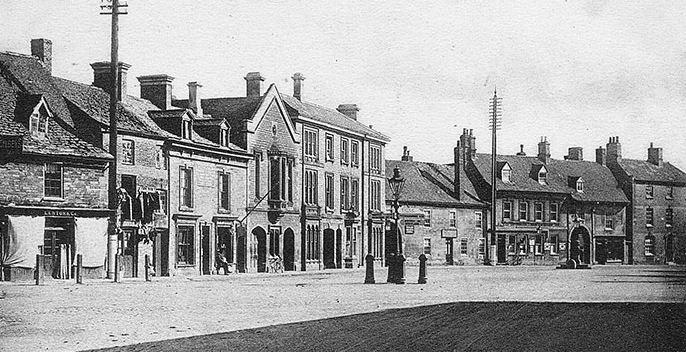 Market Place, Market Deeping Early 1900's