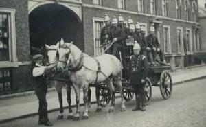 AOS P 1729 holbeach fire brigage on horse and cart