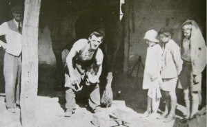 AOS P 1892  james william woodcock, blacksmith knigh street pinchbeck 1937. building demolished 60s
