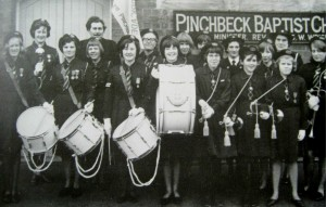 AOS P 1901 pinchbeck girls brigade, band dedication day 1965
