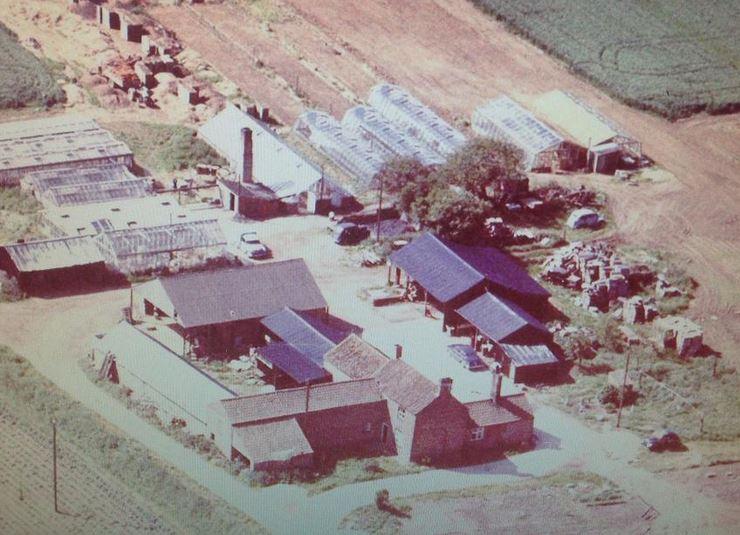 Aerial photo of Glenside Nurseries, West Pinchbeck