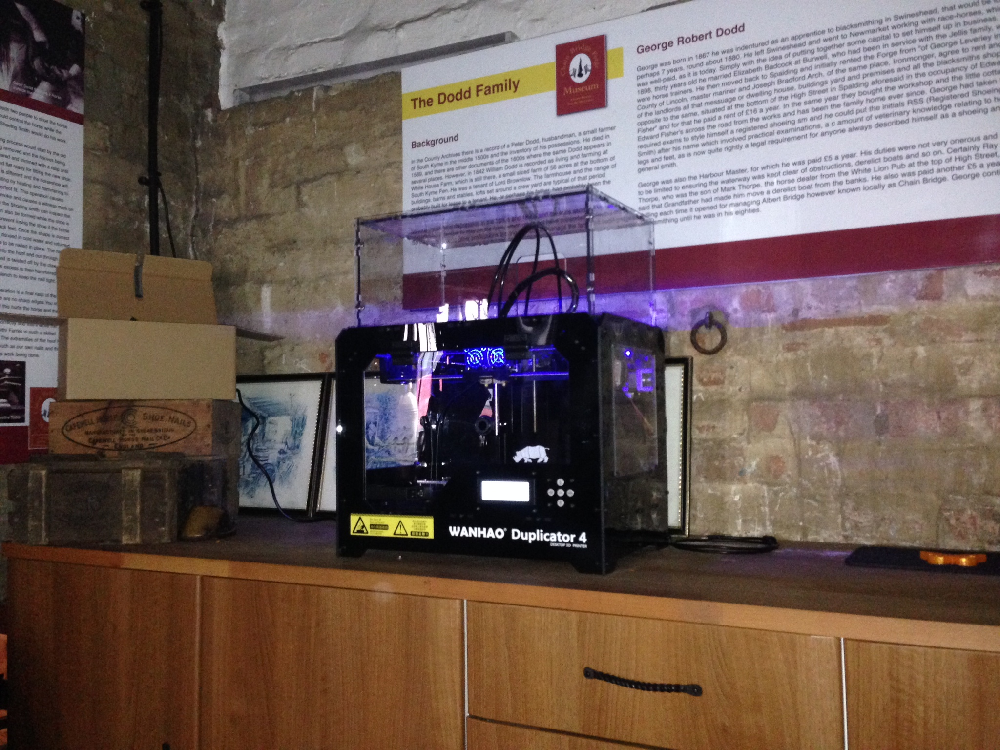 3d Printer Working At The Forge Of 3 D Tv