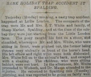 AOS P 1992  J T Whites trap accident 1900's spalding
