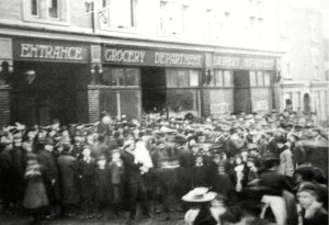 AOS P 1957  crowds outside for the official opening of co-op stores winsover rd 1900ish