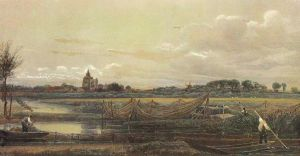AOS P 2670 crowland abbey by peter de wint 1905