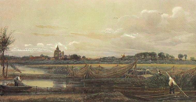 Crowland Abbey by Peter De Wint  1905