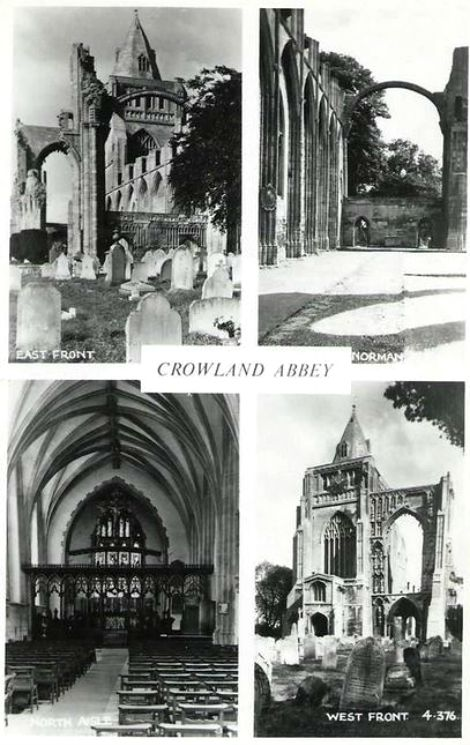 Crowland Abbey Multiview Postcard