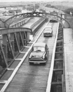 AOS P 2763  this is when they 1st removed the rails & it was boarded for a time. Before a proper road way was put down. sutton bridge