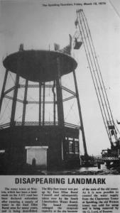 AOS P 2936 water tower weston 1974 demolition