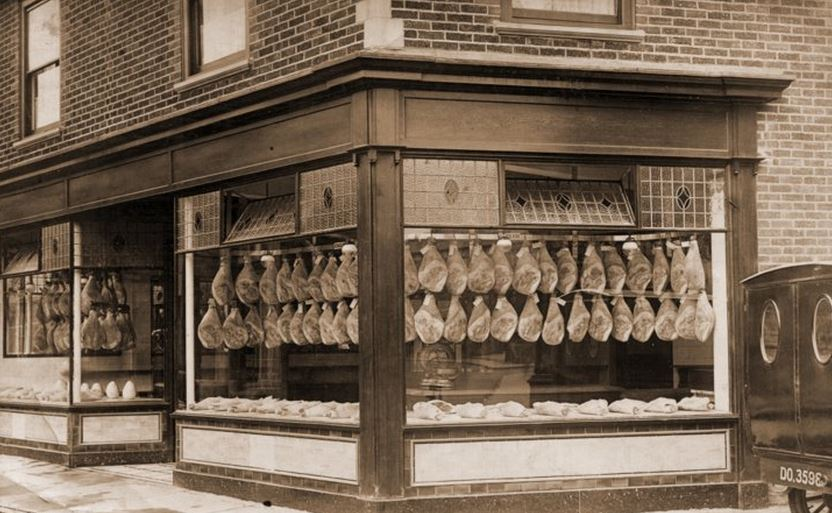 George Adams Butchers Shop 1923