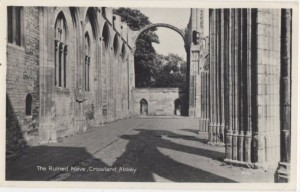 AOS P 3086 The Ruined Nave Crowland Abbey 1962 RP Postcard