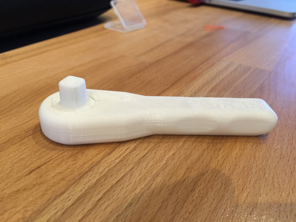 Wrench manufactured on a  3D Printer