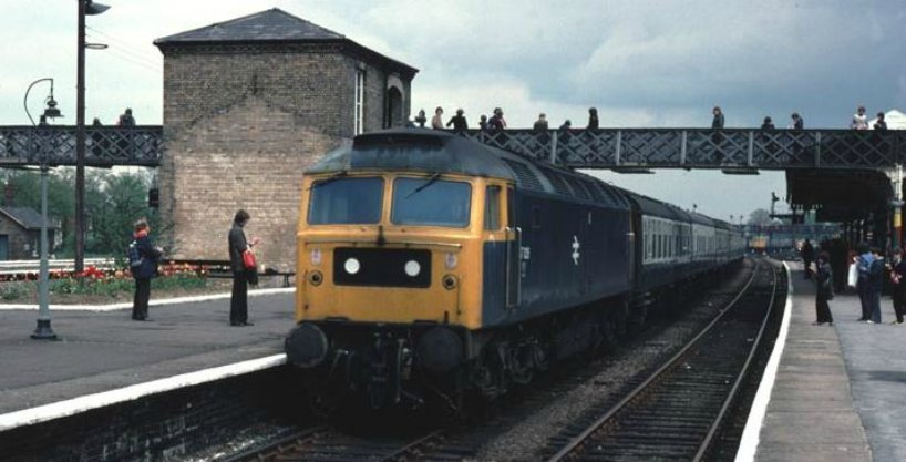 Class 47026 at Spalding Station, possibly in 1979