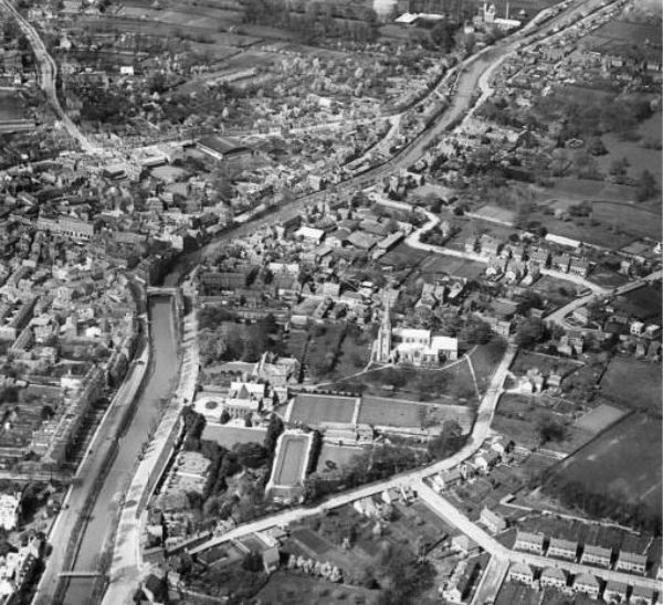 Aerial photo of Spalding 1930