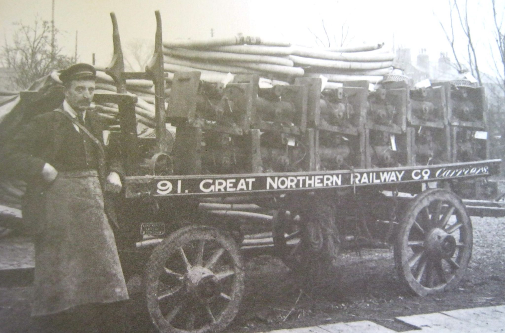 GNR Carrier Cart at Spalding Railway Station