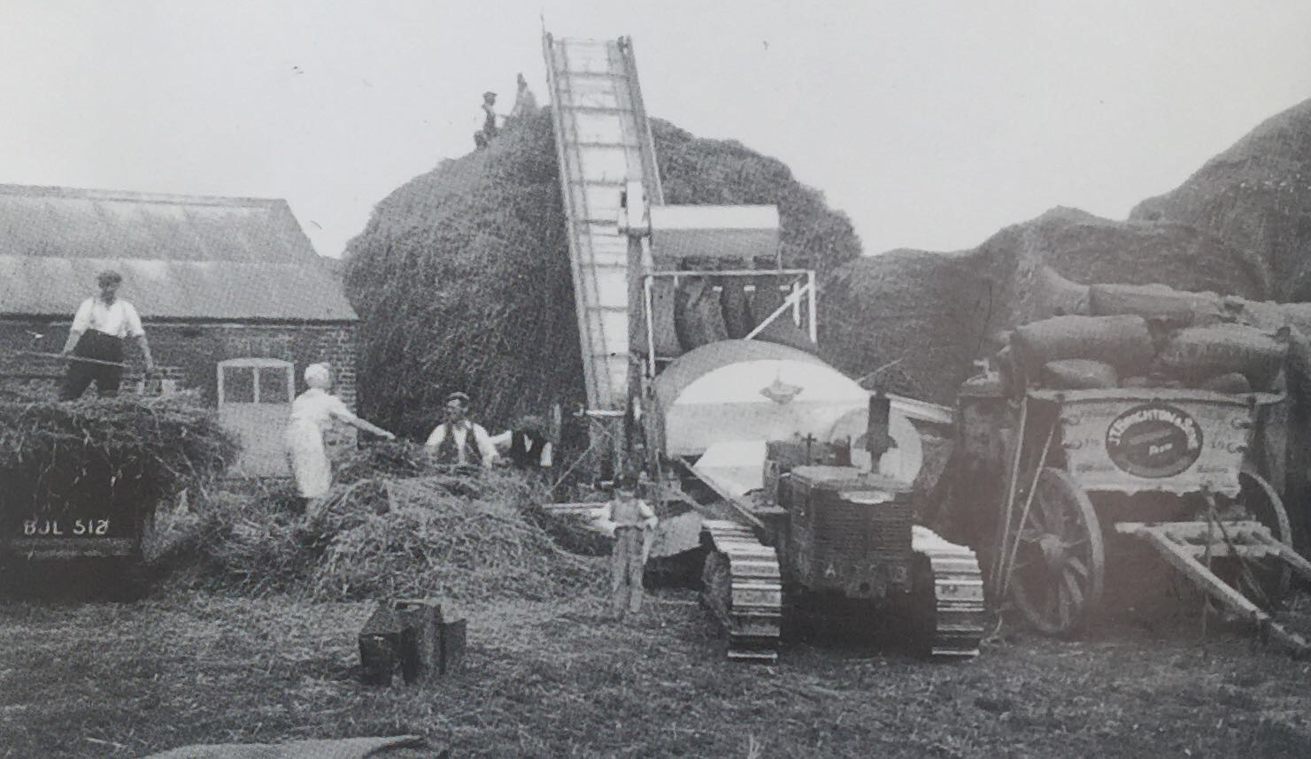 Brighton Family Threshing in the Early 1950's