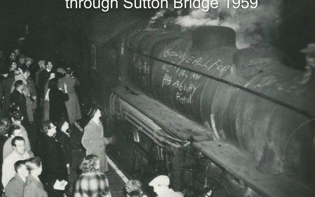 The last passenger train through Sutton Bridge Station 1959