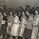 Choosing the Tulip Queen at the old Corn Exchange 1958