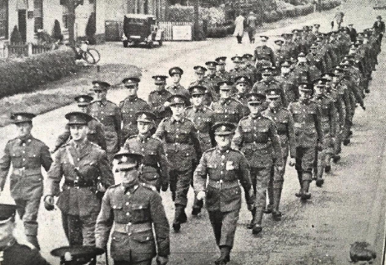 Spalding Territorials on Parade
