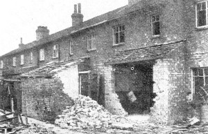 AOS P 3889 council houses in johnson avenue damaged in an air raid on the 12th may 1941