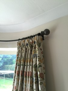 Curtain Rail curved to match a curved window