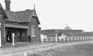 AOS P 4029 Railway Station Pinchbeck.  Beales