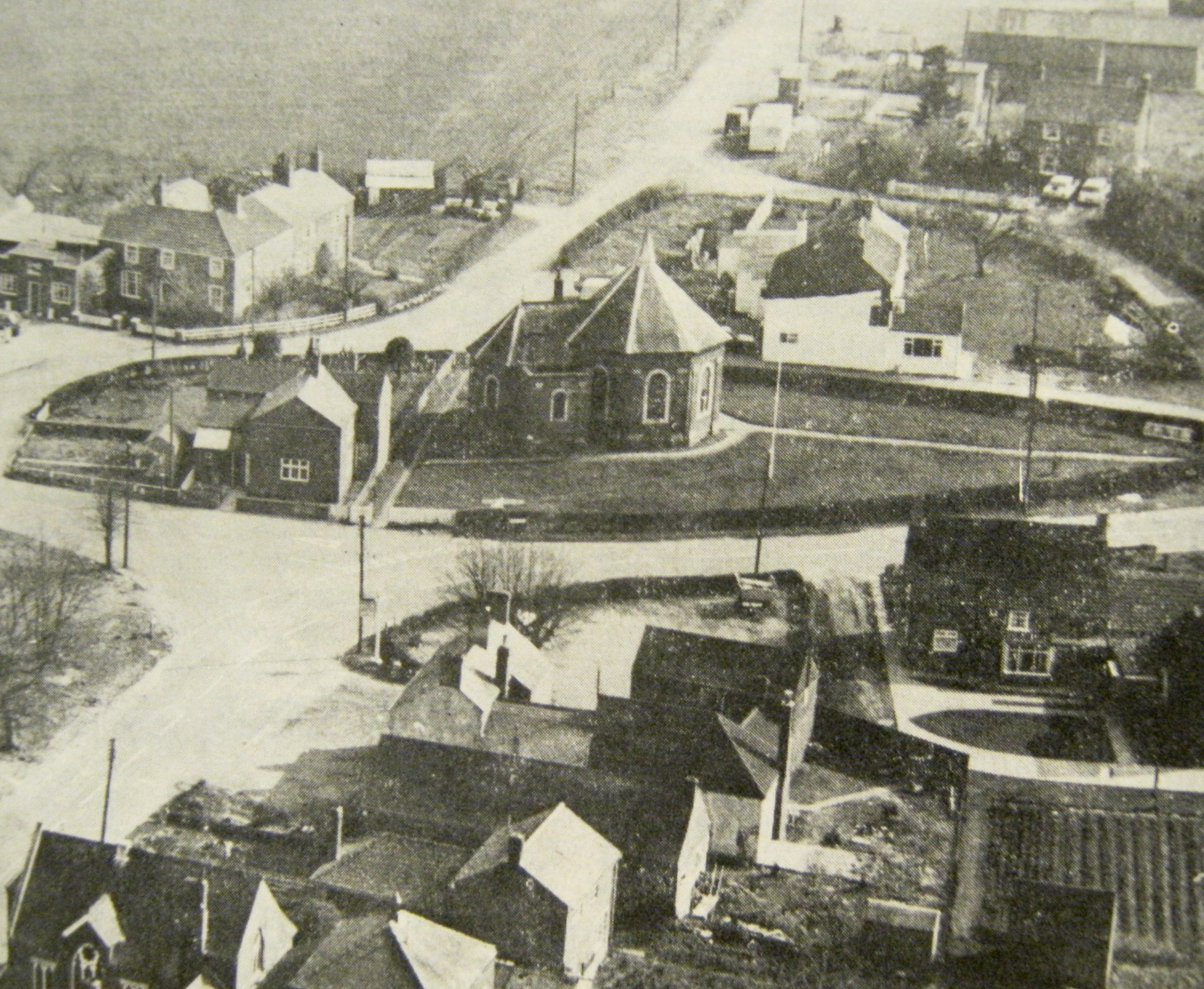 Aerial View of Moulton Chapel