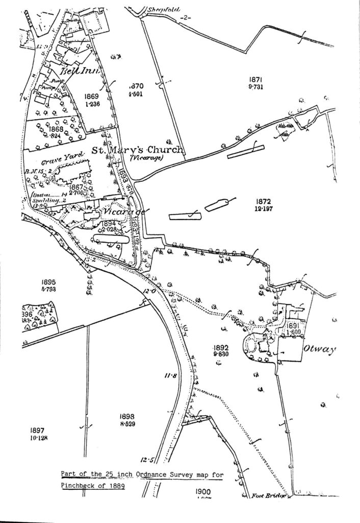 map of Pinchbeck 1900