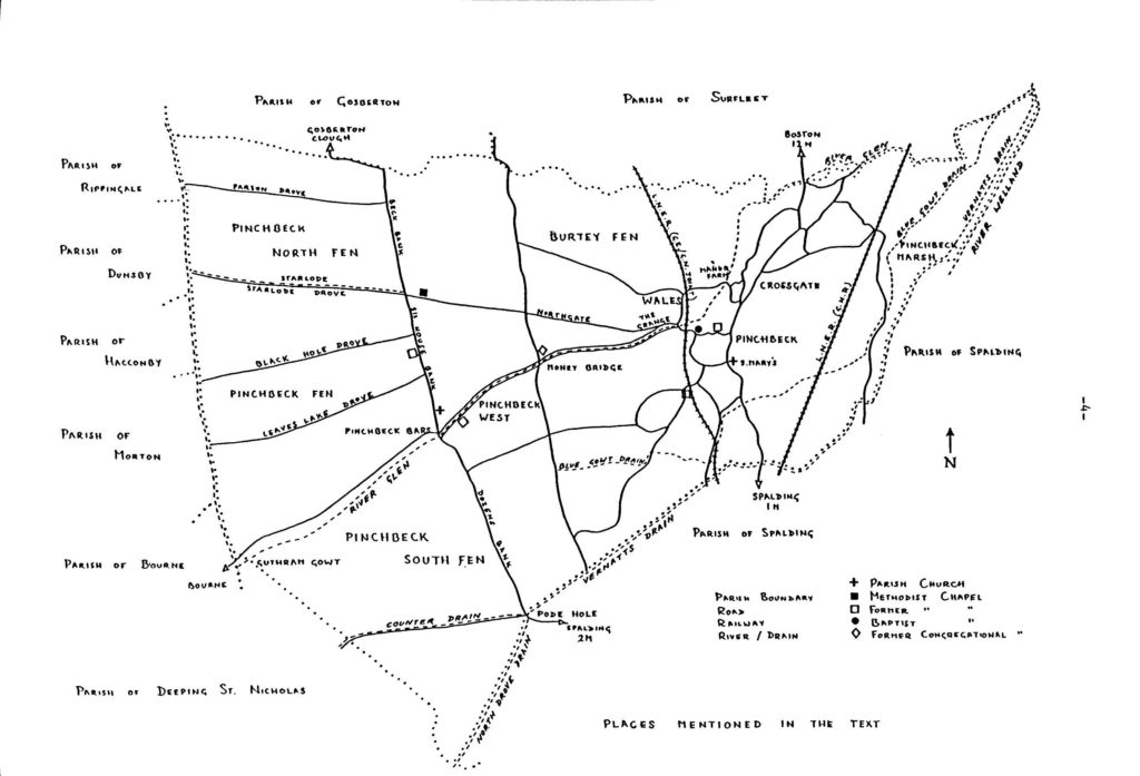 map of pinchbeck parish