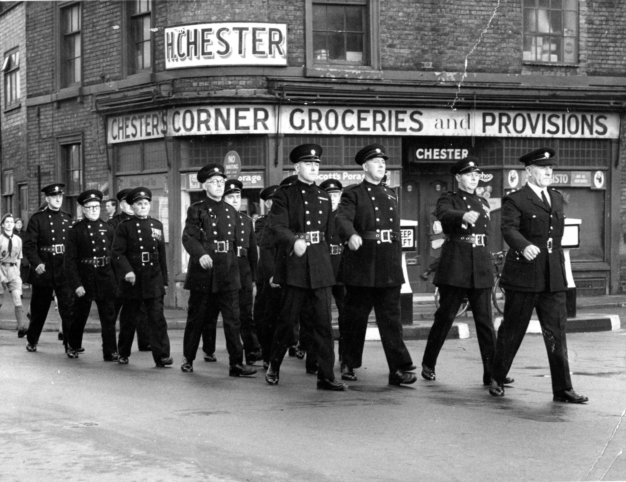 Remembrance Day Parade, New Road, Spalding around 1955