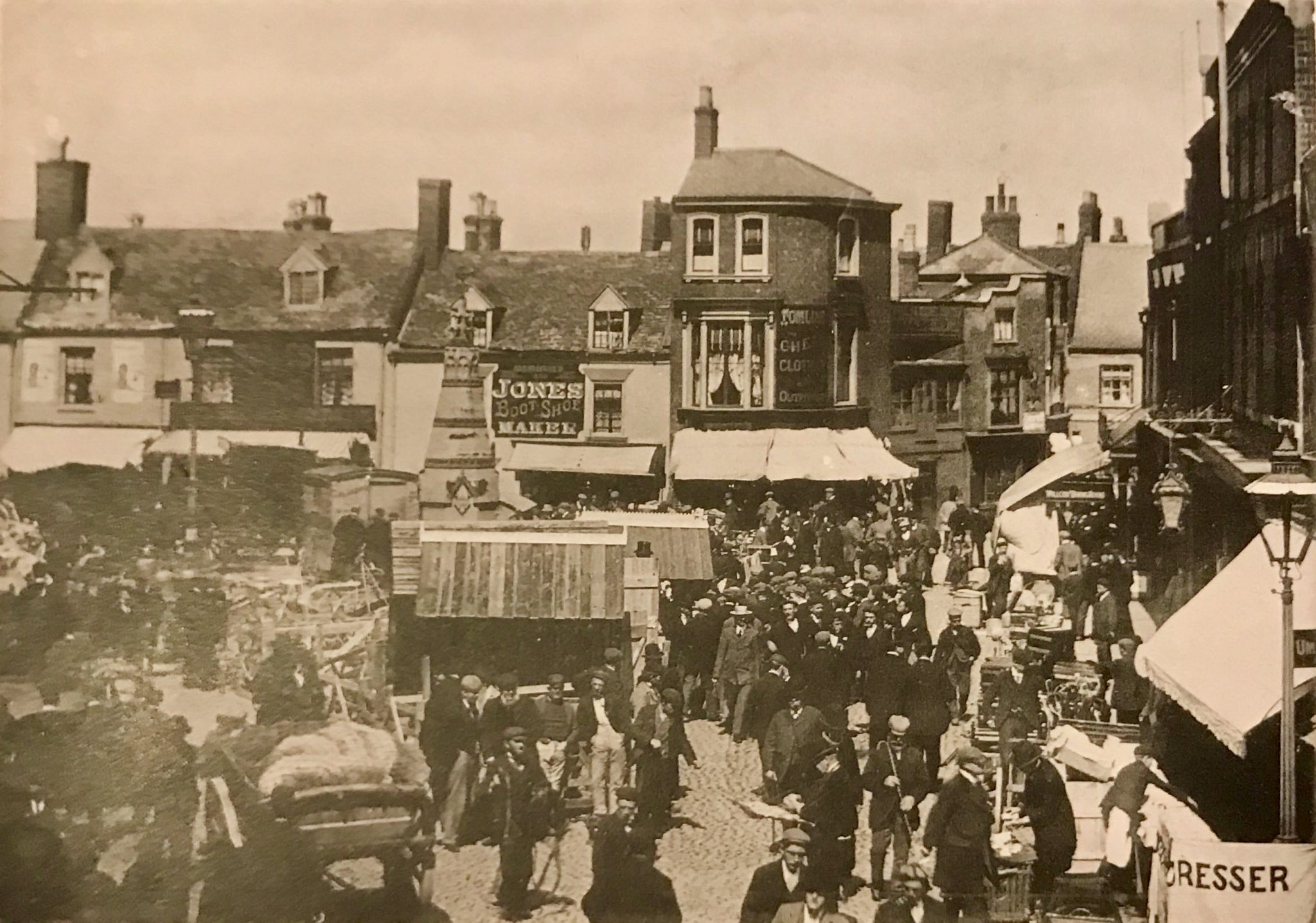 Busy Day in Hall Place – c 1900