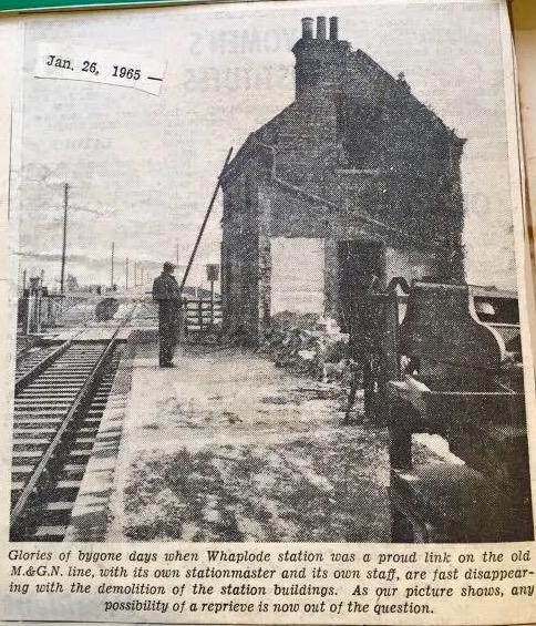 Demolition of Whaplode Station