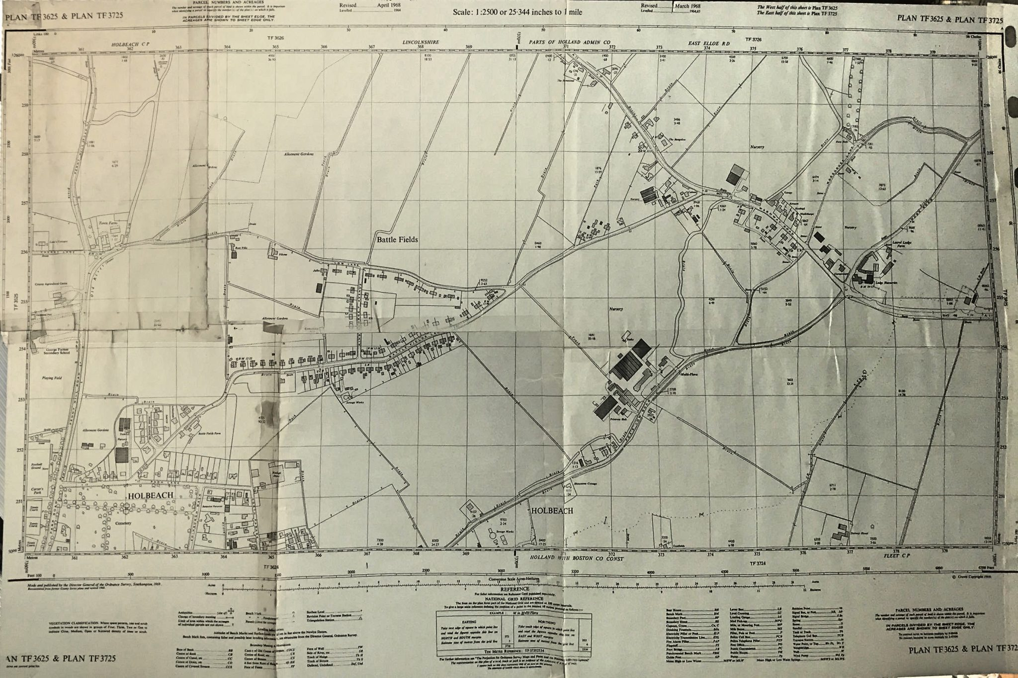 Map showing part of Holbeach