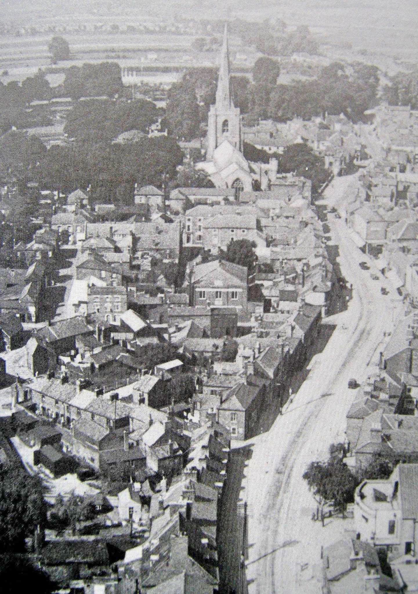 Aerial photo showing a view of Holbeach