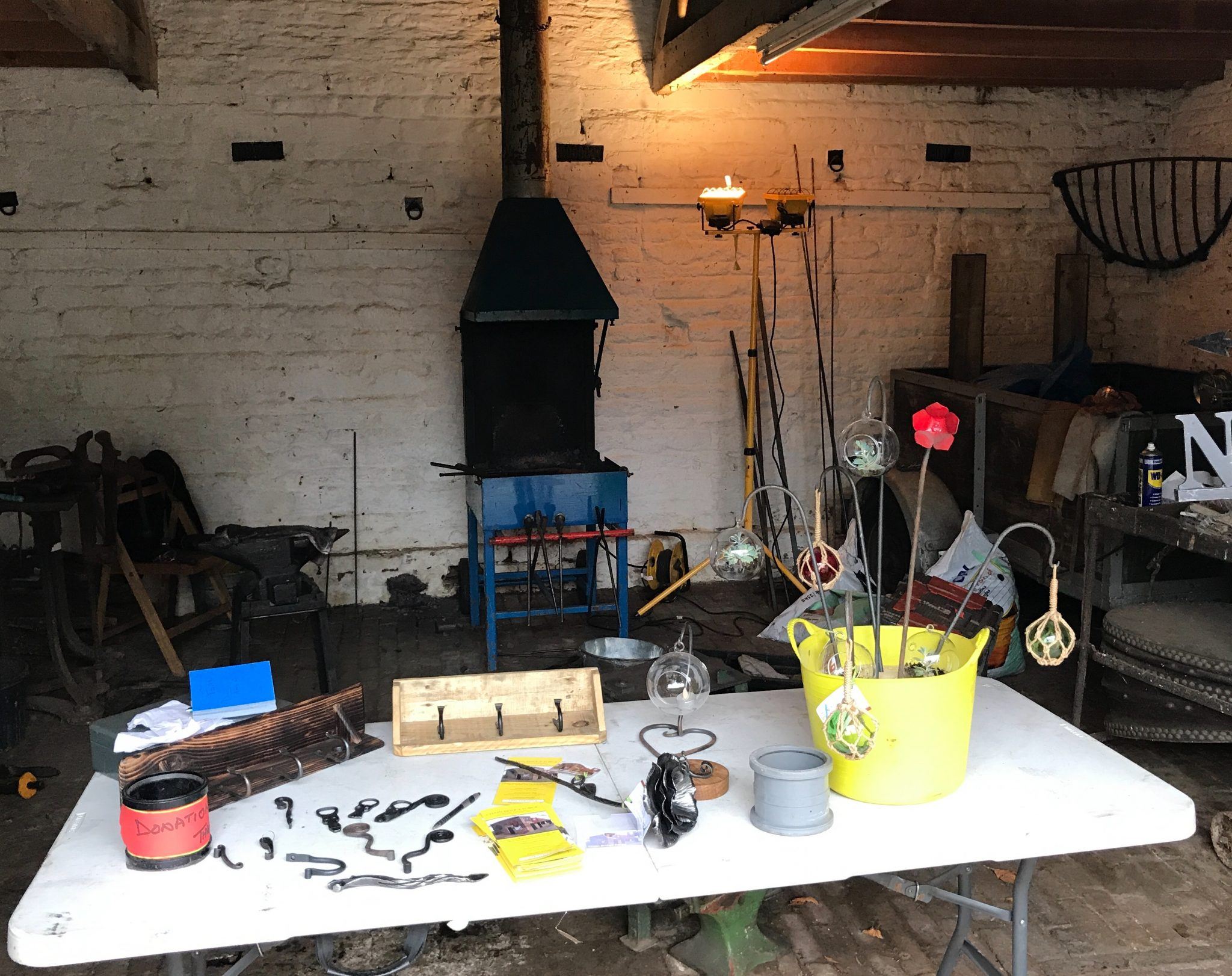 Blacksmithing at Sacrewell Farm, Peterborough