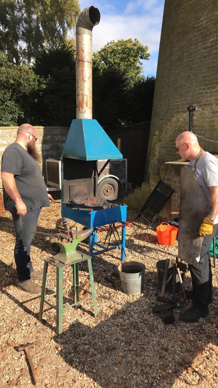Blacksmithing at Moulton Mill