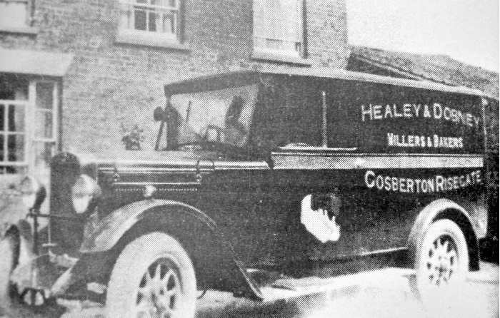 The delivery van belonging to Healey & Dobney, Millers and Bakers of Gosberton Risegate.