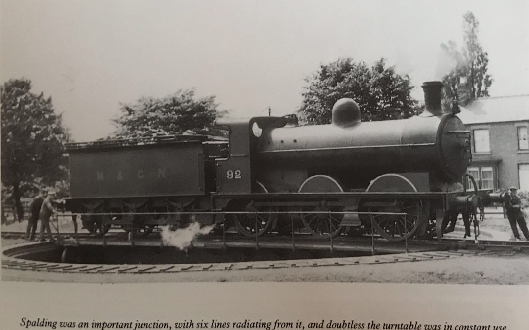 Turntable at Spalding Station in 1929