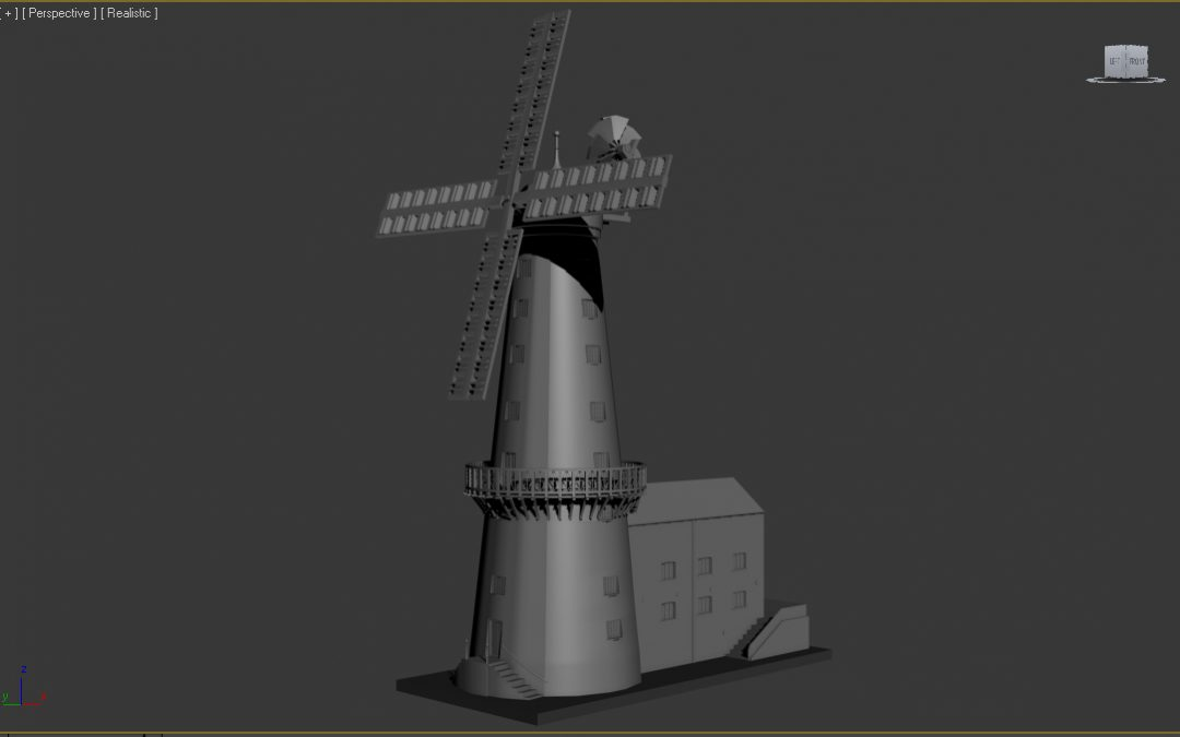 3D Models of Moulton Mill and Pinchbeck Pumping Museum