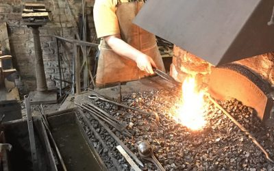 Diane Vernon enjoys a day at the Forge
