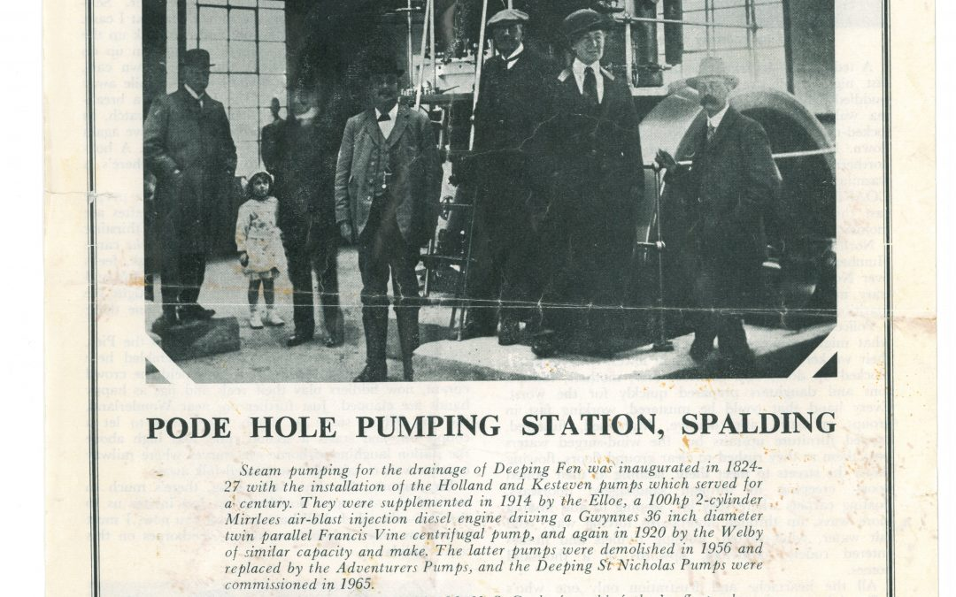 WDIDB History of Pode Hole Pumping Station Engines
