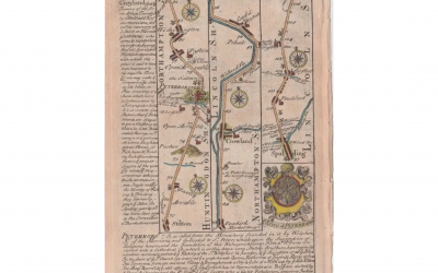 1736 Bowen Road Map – Stilton to Donington